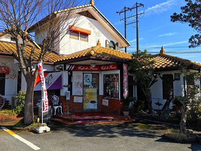 長浜の湖岸道路沿いにある喫茶店フランス