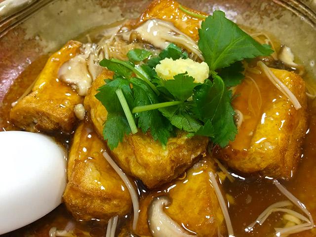 いろは食堂のあんかけ豆腐