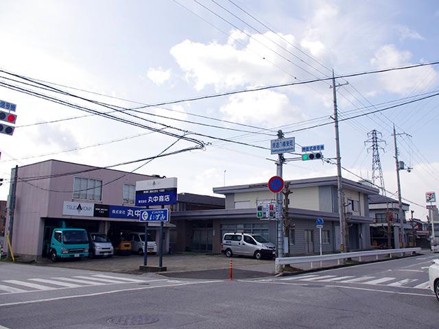 長浜の県道八幡東町の交差点