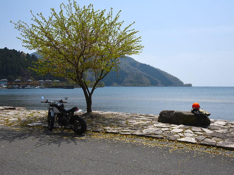 大浦から見える琵琶湖の景色