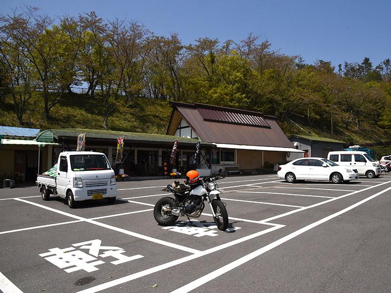 バイクで奥琵琶湖パークウェイまできました。