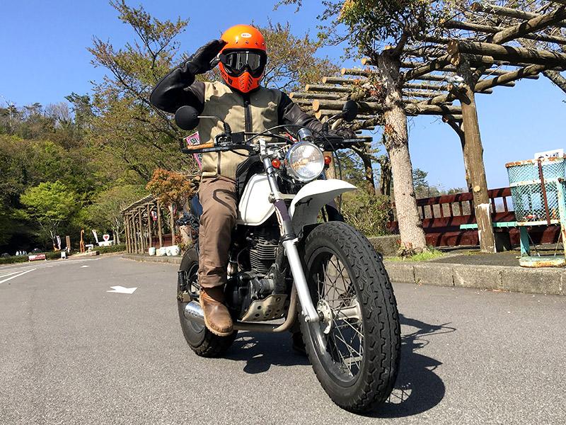 愛車のTWでバイクツーリング