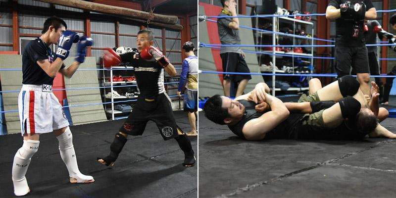 打撃と組技の両方のテクニックが必要
