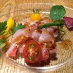 季節の魚のカルパッチョ