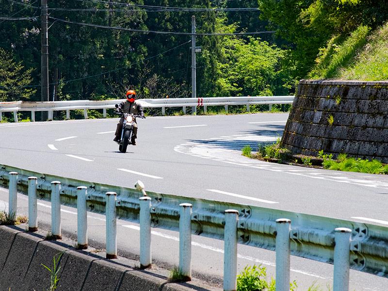 木之本から土倉鉱山へバイクで向かう途中
