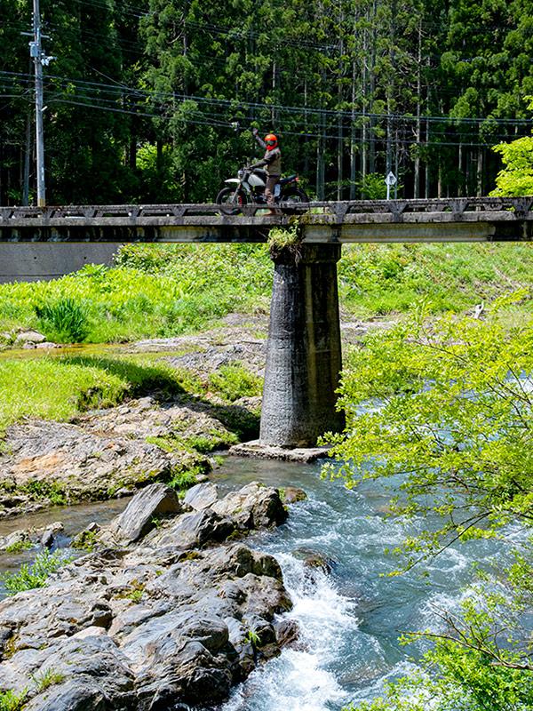 長浜は豊な大自然の中バイクで走れるところがとても贅沢