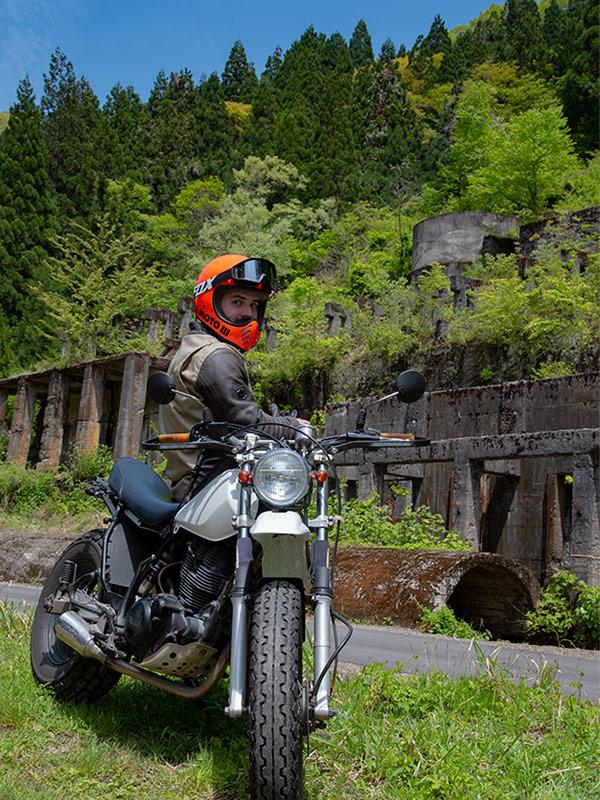土倉鉱山跡までバイクツーリング
